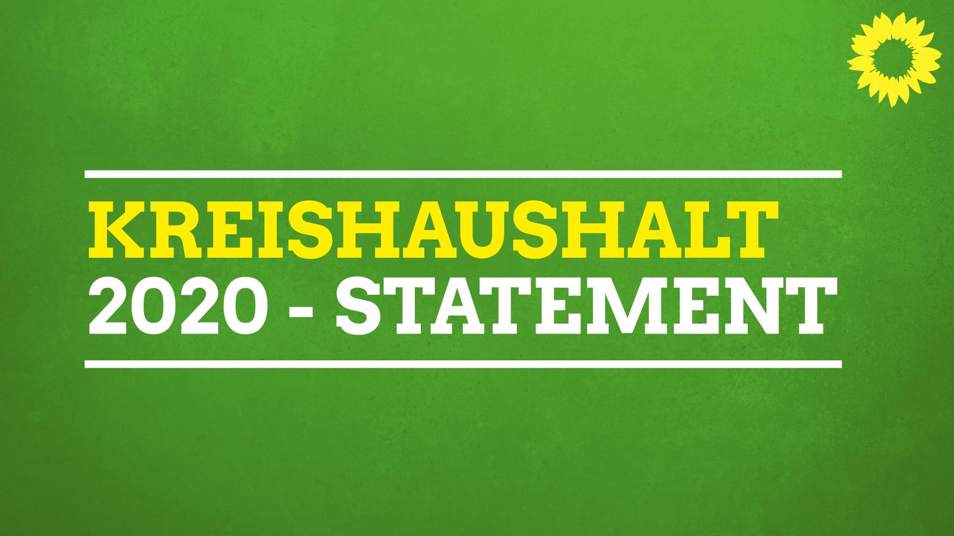Statement Kreishaushalt