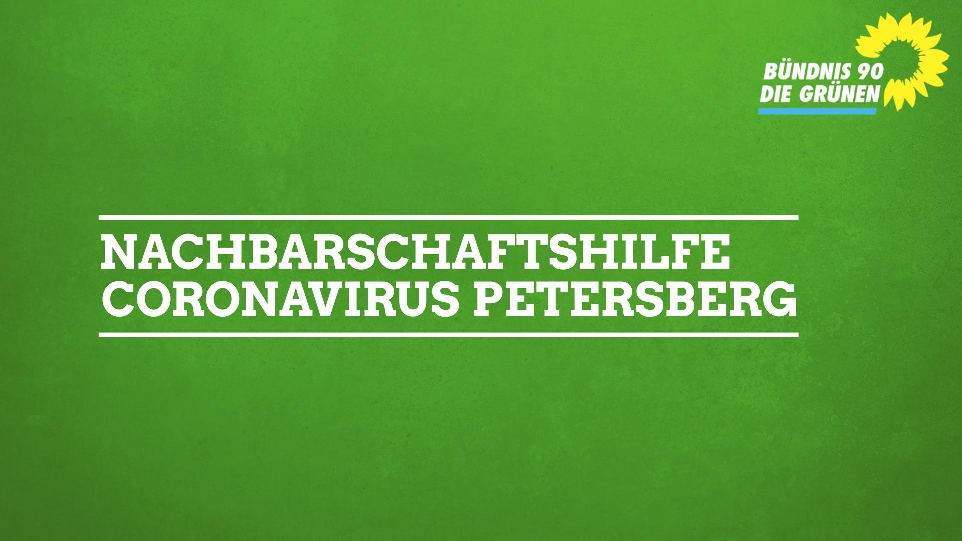 OV Petersberg organisiert Nachbarschaftshilfe