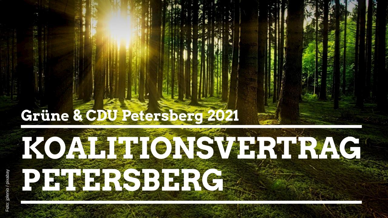 Grüne und CDU in Petersberg stellen Koalitionsvertrag vor